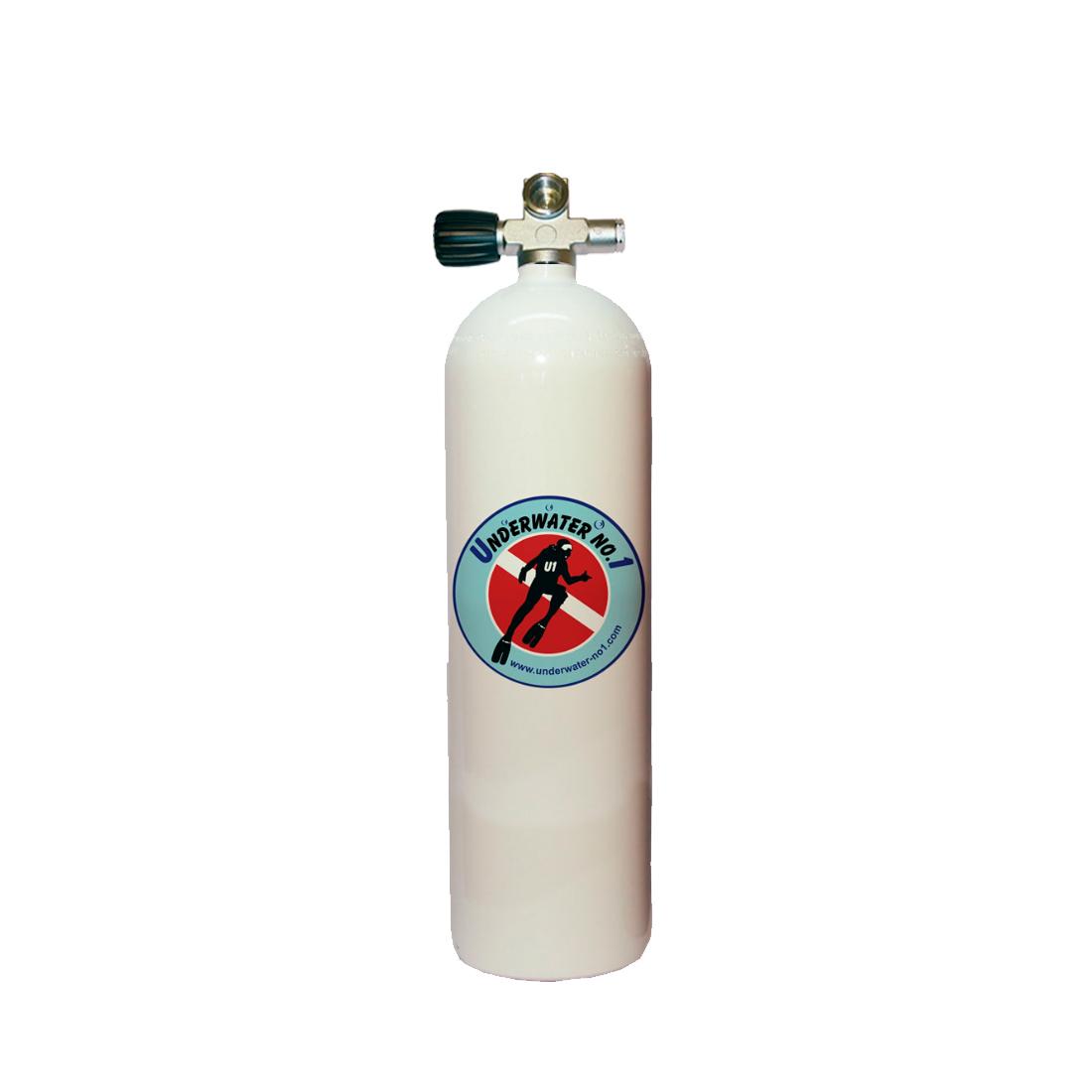 POLARIS - Tauchgerät 232Bar Stahlflasche Brückenventil 12544 links oder rechts konkav