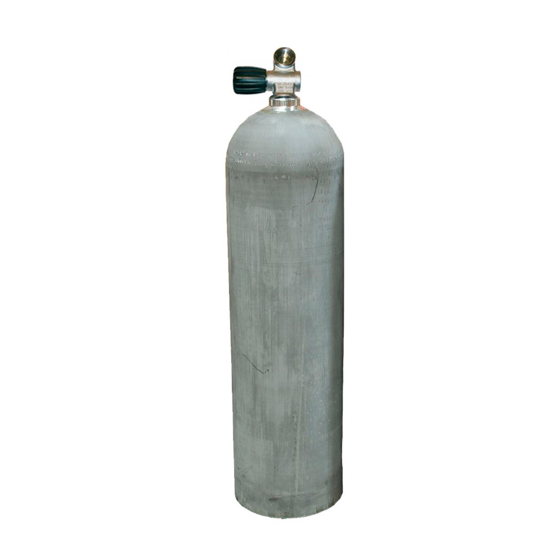 MES - Tauchgerät 11,1l 207Bar 80cuft Aluflasche ohne/mit Ventil natural