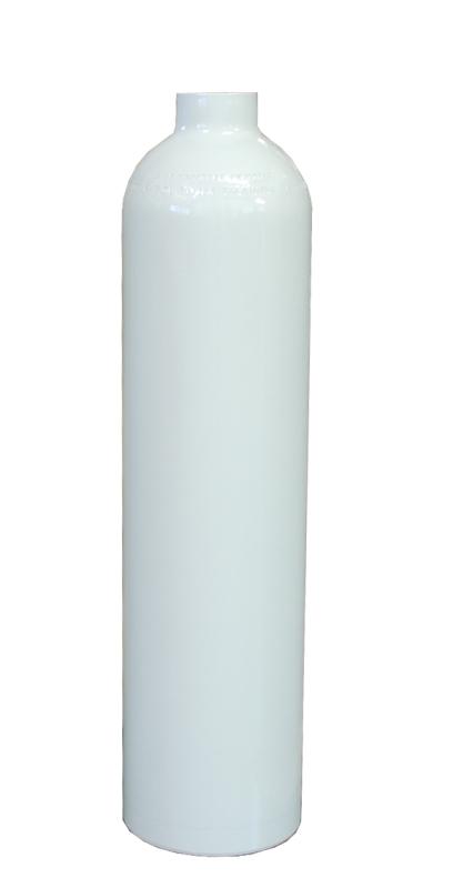 POLARIS - Tauchgerät 232Bar Stahlflasche ohne Ventil+Fuß konkav