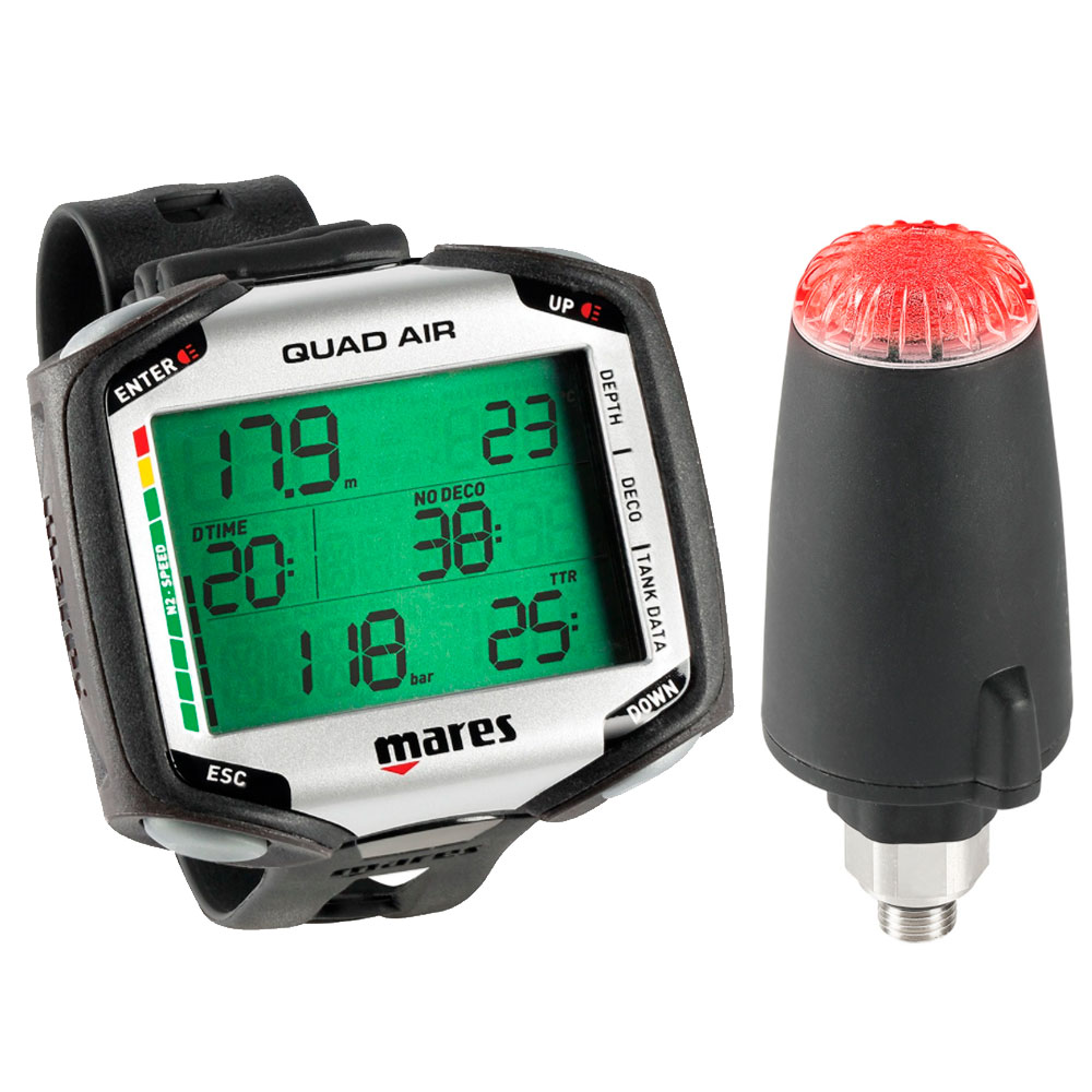 MARES - Quad AIR mit LED Sender Tauchcomputer