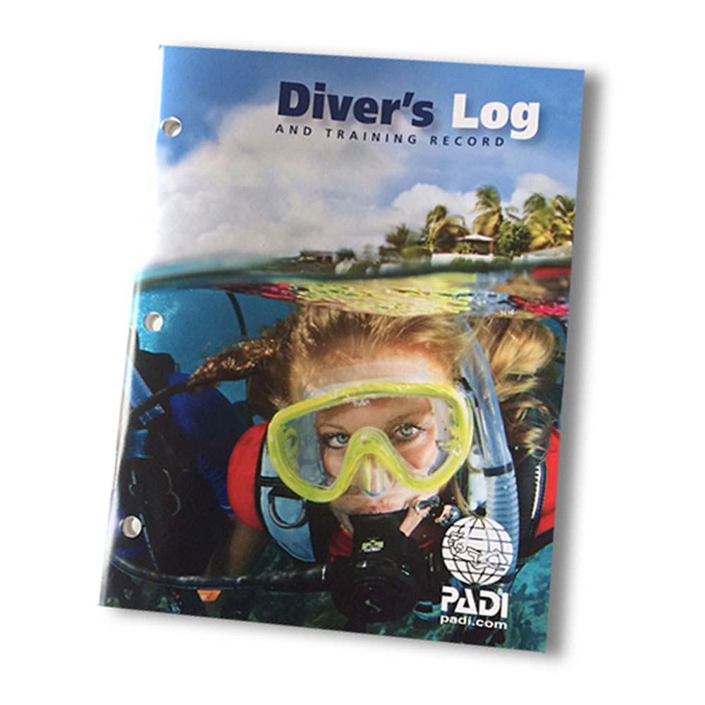 PADI - Logbook Divers Log and Training Records Blue German