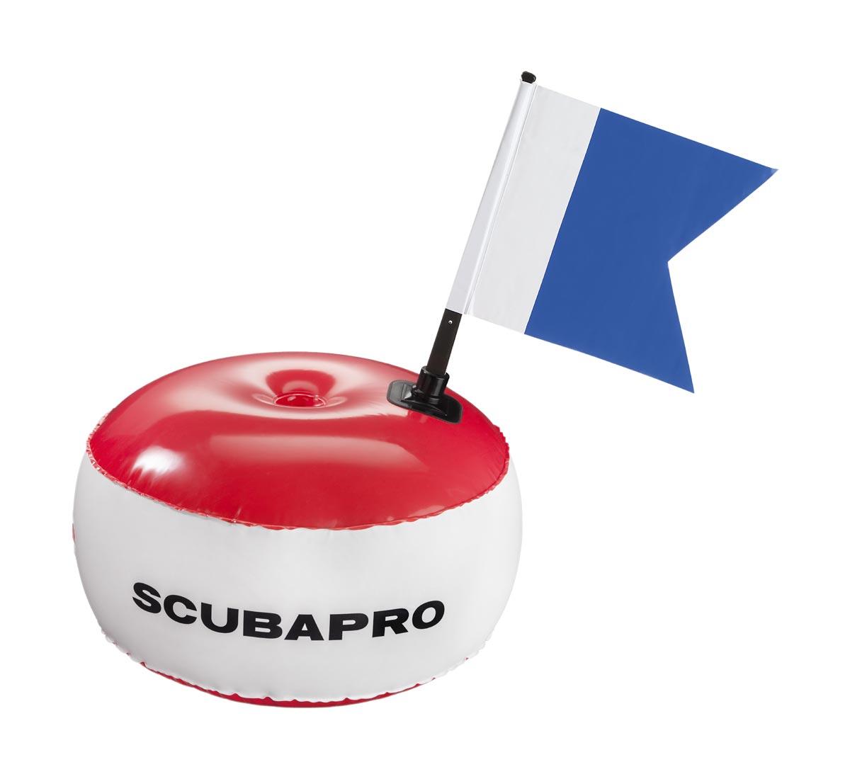 SCUBAPRO - Signalboje rund mit Alpha Flagge