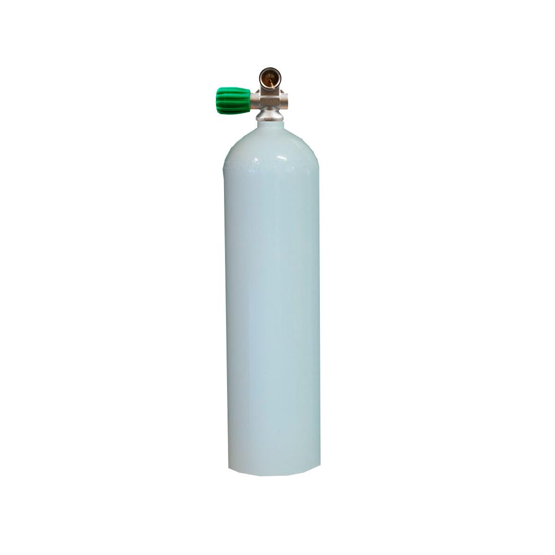 MES - Tauchgerät 7l 200Bar Aluflasche mit/ohne Ventil weiss