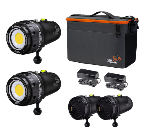 LIGHT & MOTION - Sola Video Double Dive 2x15K Kit (Flachport)