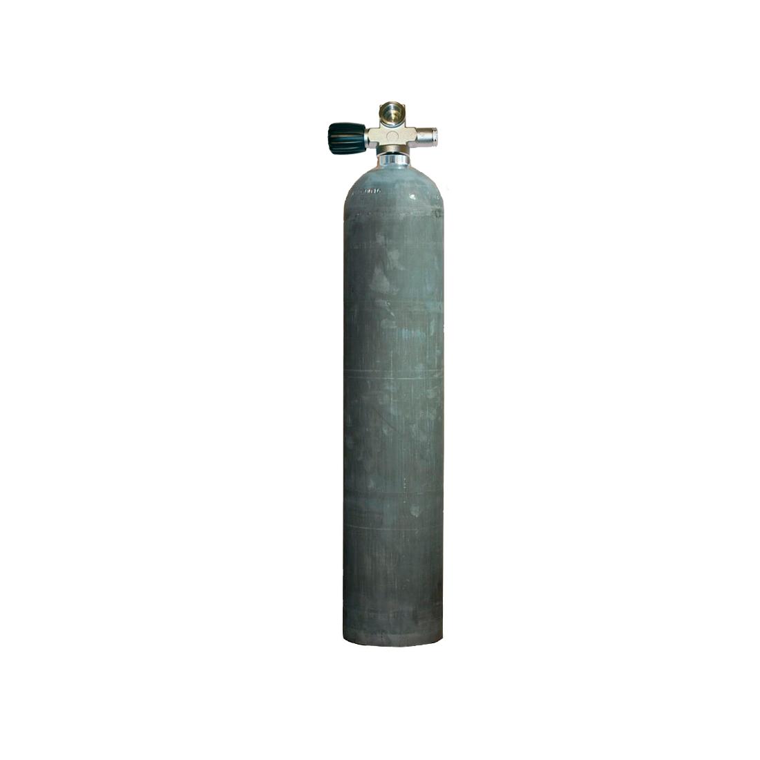 MES - Tauchgerät 5,7l 207Bar 40cuft Aluflasche mit/ohne Ventil natural