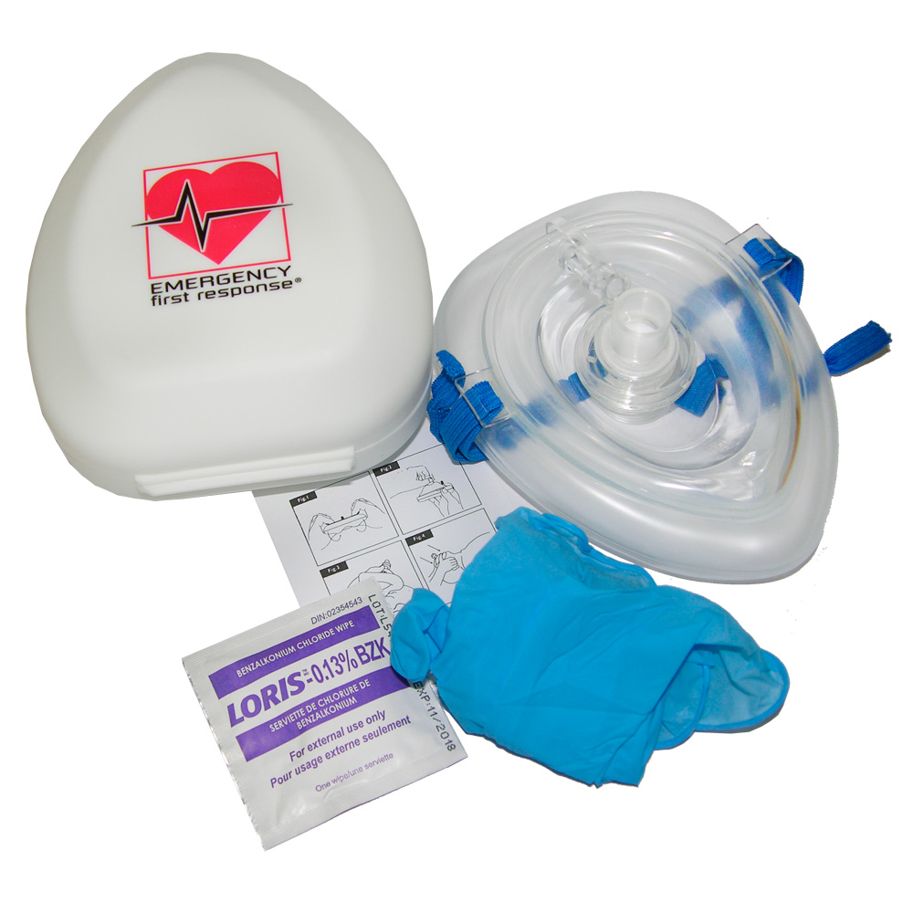 PADI - Pocket Mask EFR with 02 Port in Hardshell Case