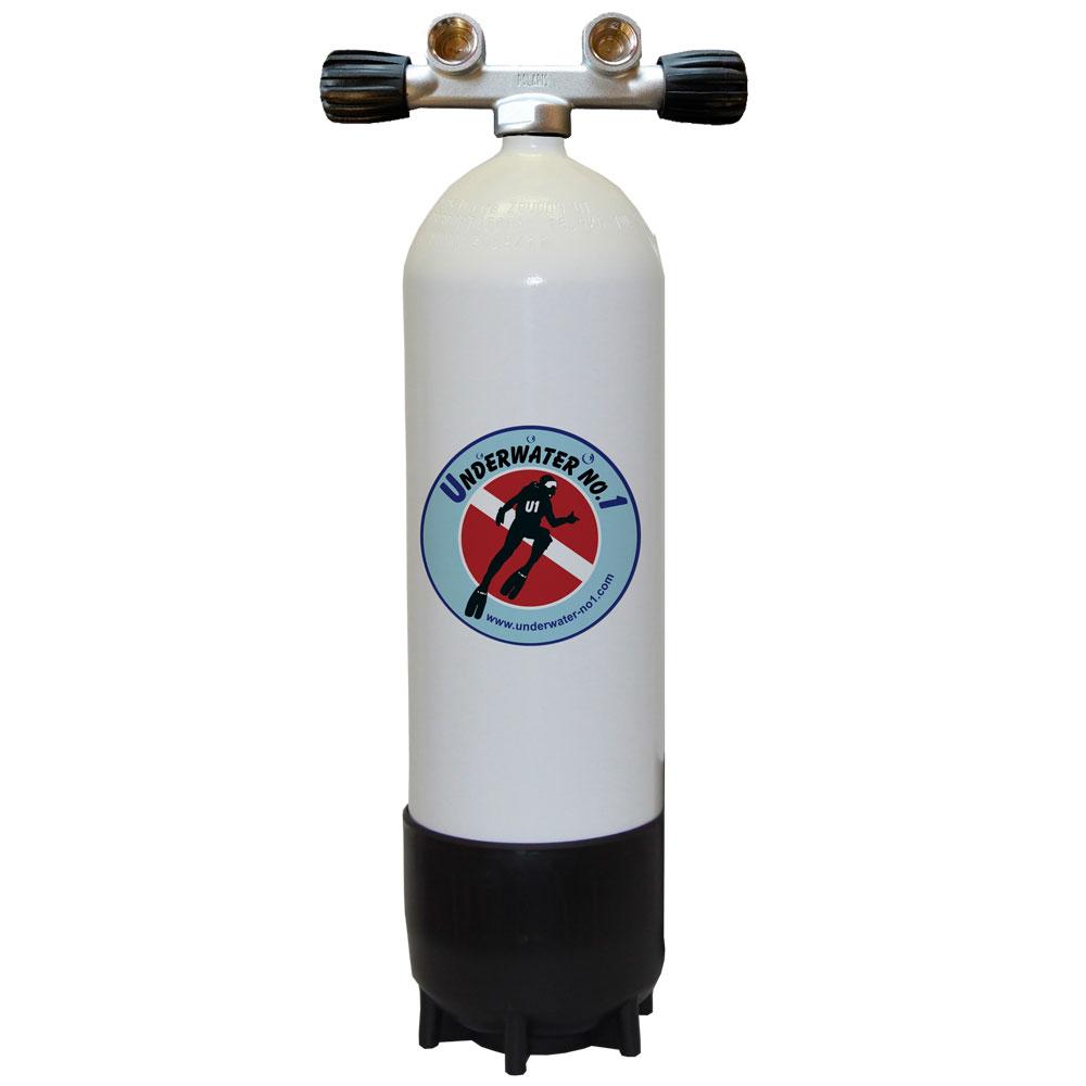 POLARIS - Tauchgerät 232Bar Stahlflasche Twinventil 12944