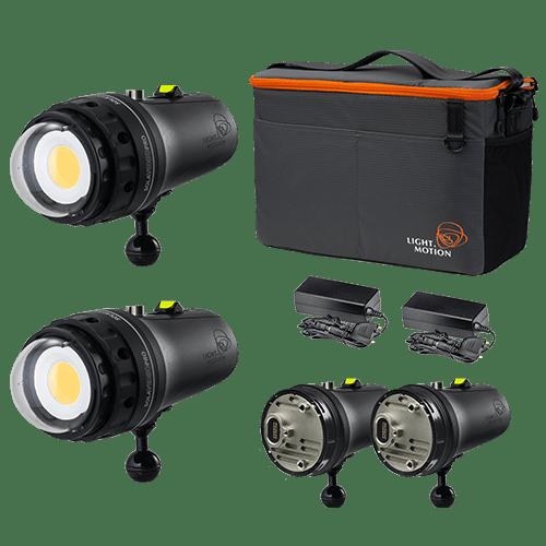 LIGHT & MOTION - Sola Video Double Dive 2x15K Kit (Kuppelport)