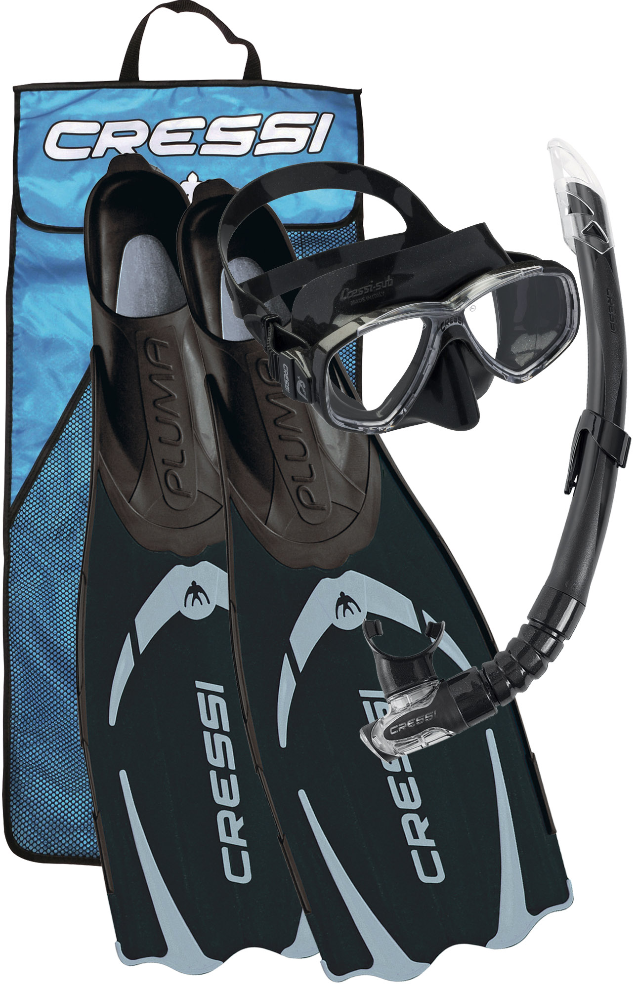 CRESSI - Pluma Bag Schwarz ABC Set Gr. 35/36