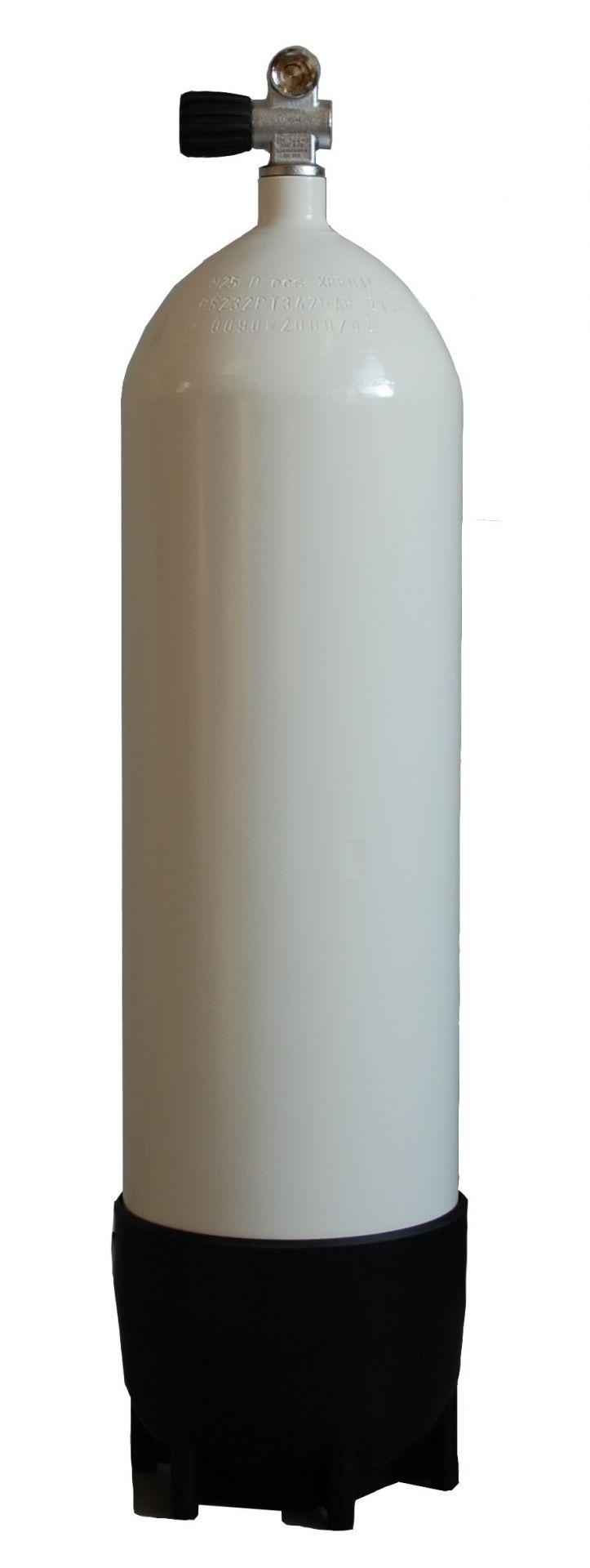 FABER - Tauchgerät 200Bar Stahlflasche Monoventil 12144 und Fuß