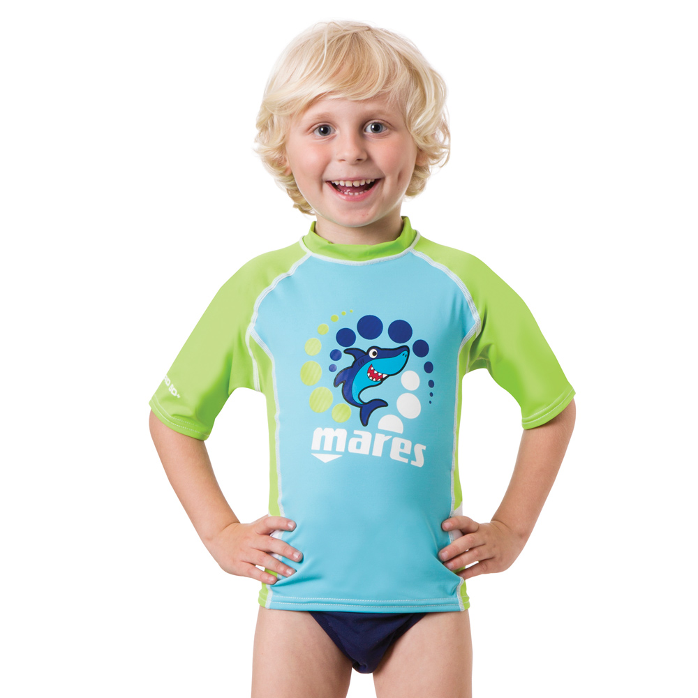 MARES - Rash Guard Kids Short Sleeve Junge