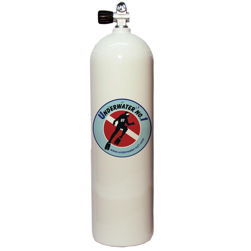POLARIS - Tauchgerät 232Bar Stahlflasche Monoventil 12144 konkav