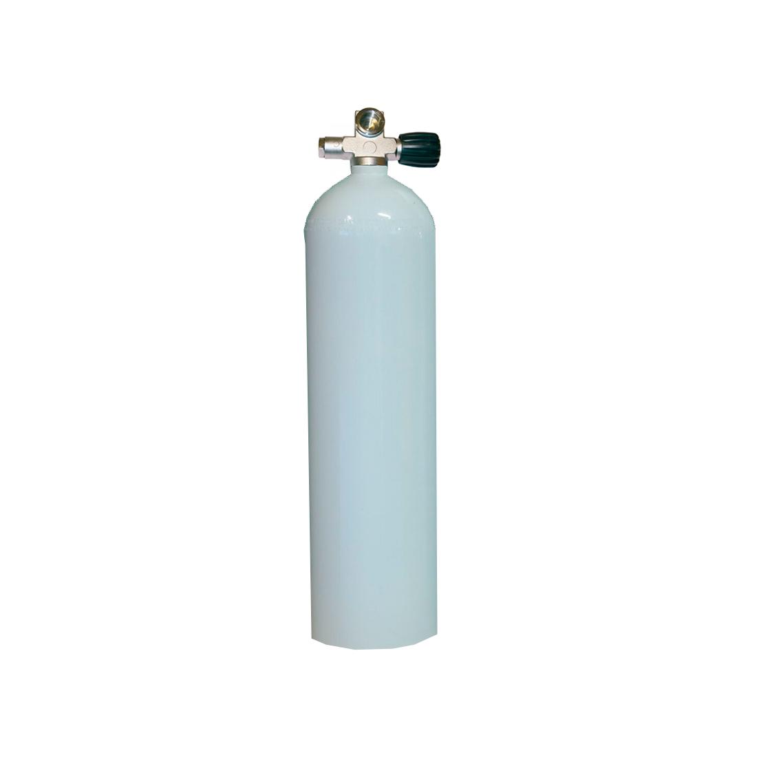 MES - Tauchgerät 5,7l 207Bar 40cuft Aluflasche mit/ohne Ventil weiss