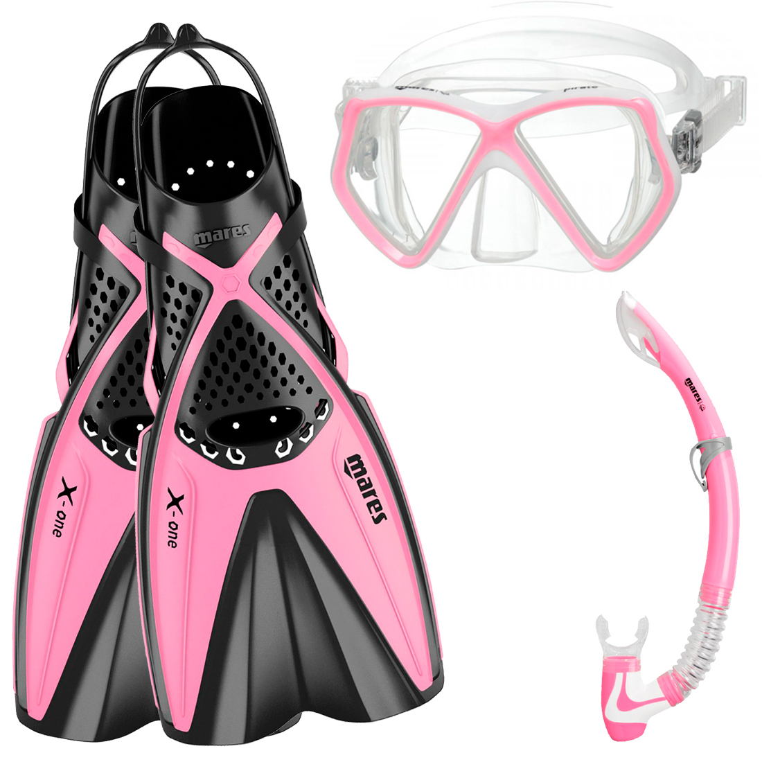 MARES - X-One Pirate Junior ABC Set Pink