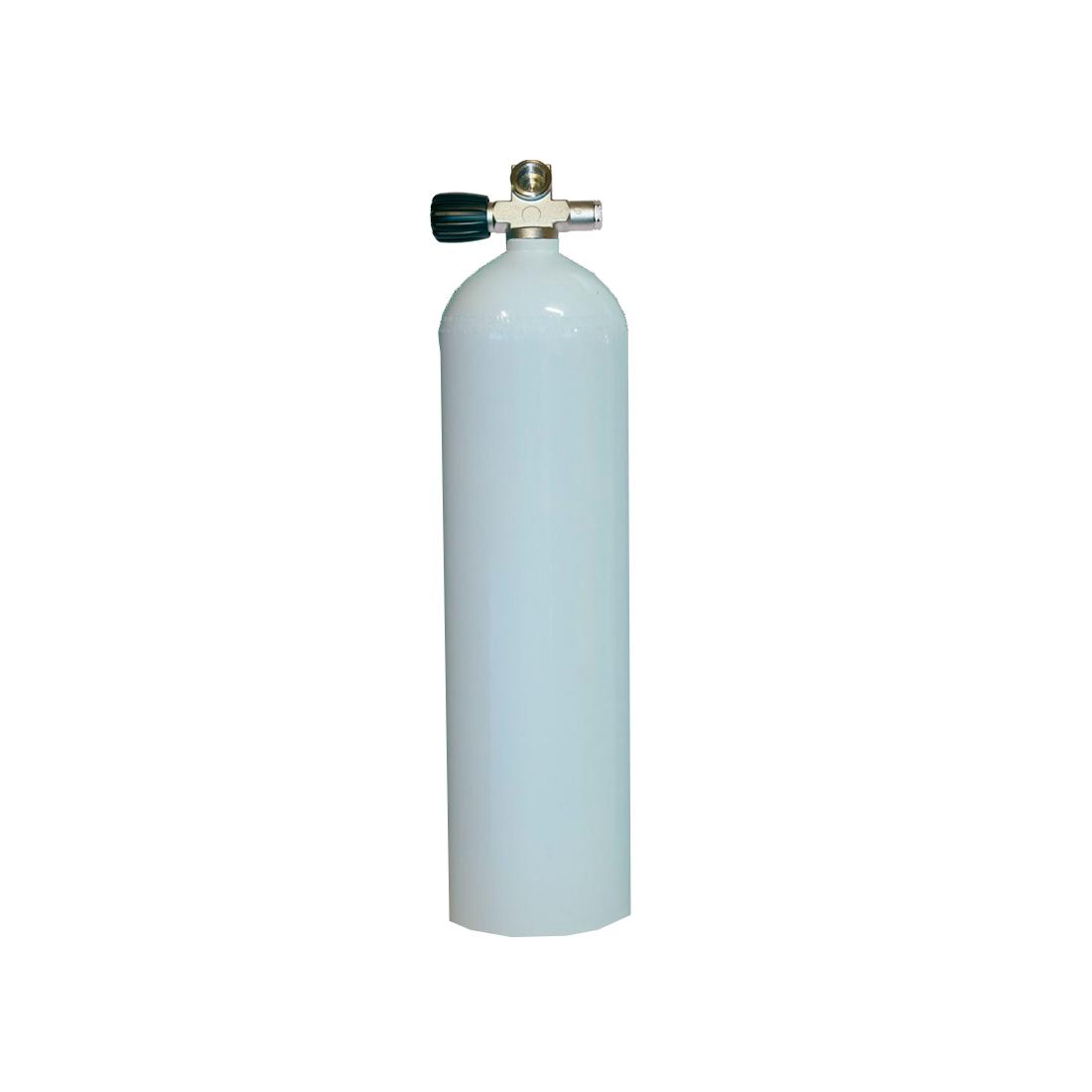 MES - Tauchgerät 11,1l 207Bar 80cuft Aluflasche ohne/mit Ventil weiss